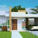 Fachada de Casas Minimalistas de una Planta y Modernas