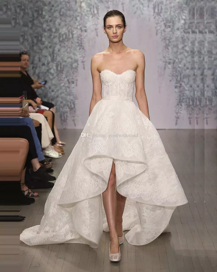 Asymmetric Wedding Dresses 2017 Corset Sweetheart Neckline High Low Lace Wedding Gowns Exquisite Custom Made Bridal Gowns Dress Wedding High Street Wedding Dresses From Gonewithwind, $201.01| Dhgate.Com