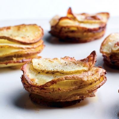 Muffin-Pan Potato Gratins: love that these are individual portions but I would HAVE to add cheese! Probably a mixture of gruyere & parm on top so it can get brown & crispy. Yum!!