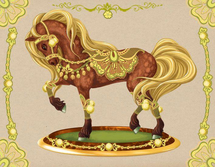 это картинки златогривые кони вам