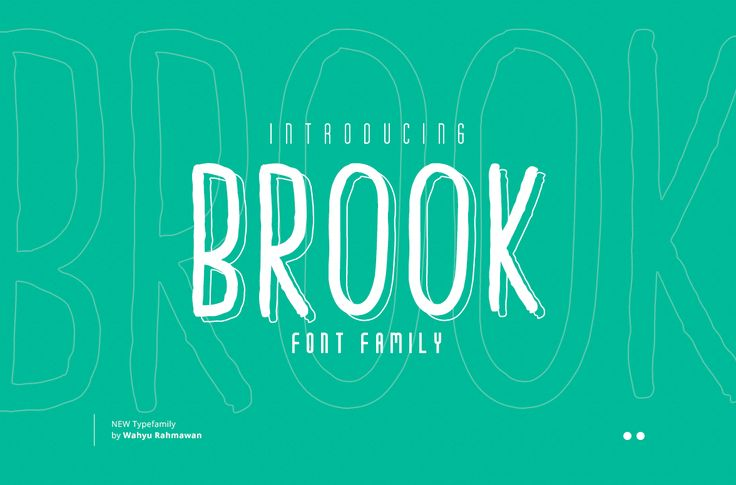 Brook Font by Factory738 on @creativemarket
