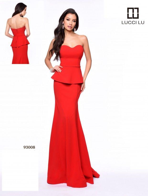 LUCCI LU 93008 Size 12 #Red #Peplum  #LucciLu #Prom #Prom17 #Prom2017 #PromDress