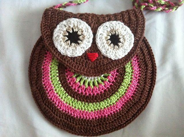 Free Crochet Owl Purse Pattern