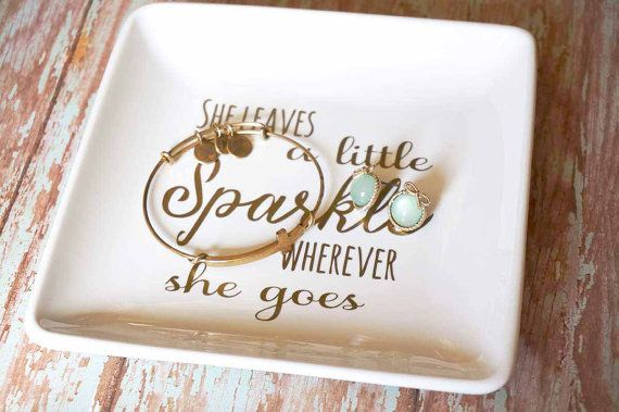 Beautiful and functional at the same time! This dish is great for displaying and keeping track of all of your trinkets and baubles. Great to put
