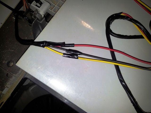 Cambio de timer y regulador de una lavadora LG WP-701N -  envolví con cinta eléctrica cada unión: