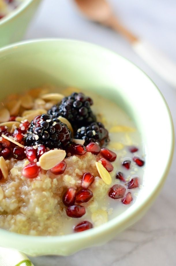 Quinoa-berry breakfast bowl, sounds delicious!