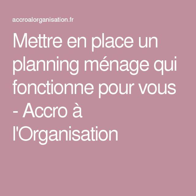 17 best ideas about planning m nage on pinterest m nage astuce rangement a - Organisation menage planning ...