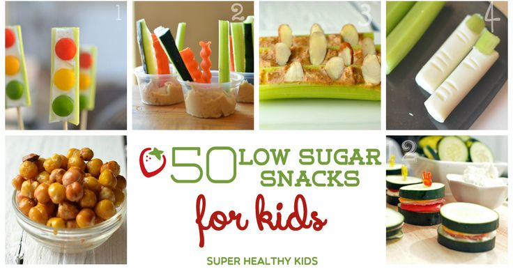 50 snacks with less than 4 grams of sugar! Print this list and keep it in your pantry.