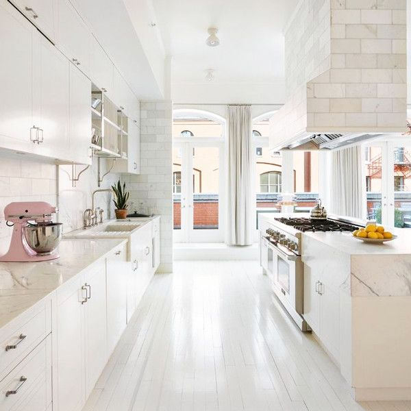 White On White - Explore Gwyneth Paltrow's Goop-Worthy Tribeca Penthouse - OMGosh ... LOVE this Kitchen