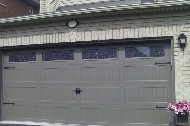Chi garage door in bronze color house pinterest for Garage door colors