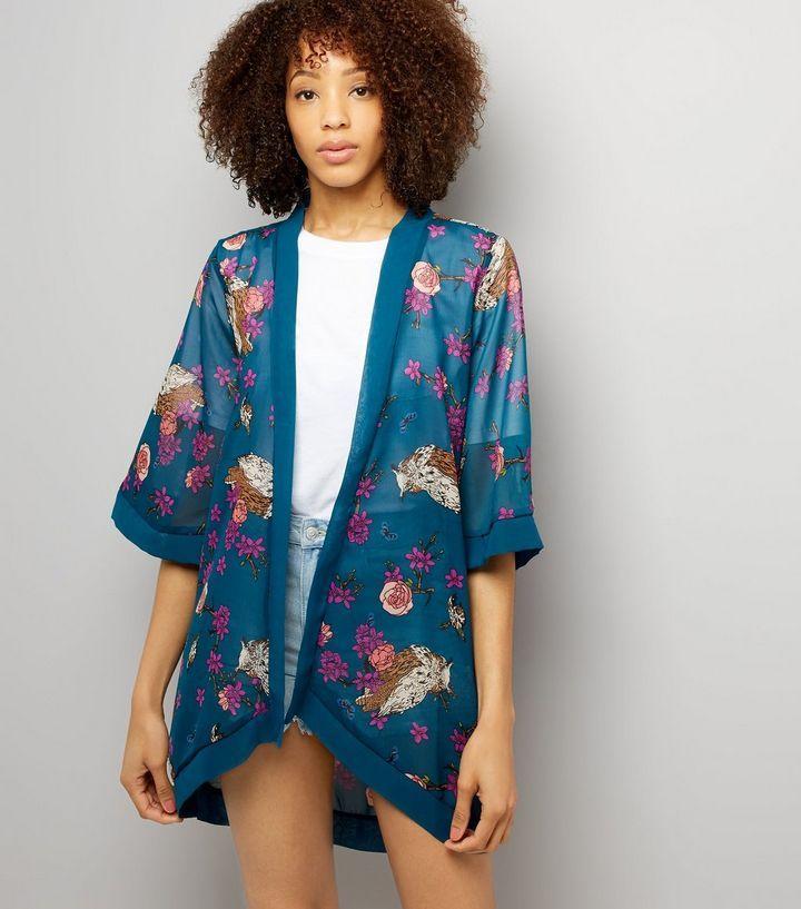 L2017 http://www.newlook.com/row/womens/clothing/tops/mela-blue-floral-print-kimono/p/540399947?comp=Browse