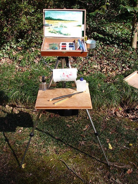Plein-Air and Sketching Easel by webminer2, via Flickr