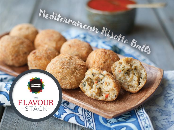 Mediterranean Risotto Balls (Arancini) . Do you want the recipe?   Follow the link to our exciting direct-ship program that will bring our delicious products right to your table.   All you'll need to do is pick up the fresh ingredients and follow the recipe. Delicious meals – just like that!