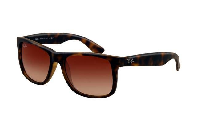 Ray Ban Justin RB4165 Sunglasses Havana Frame Wine Red Gradient Lens