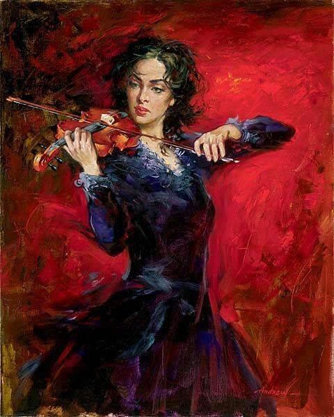 Gypsy Playing Violin !