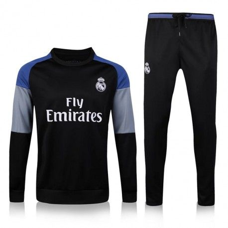 Chándal Real Madrid 2016 2017 Negro Gris