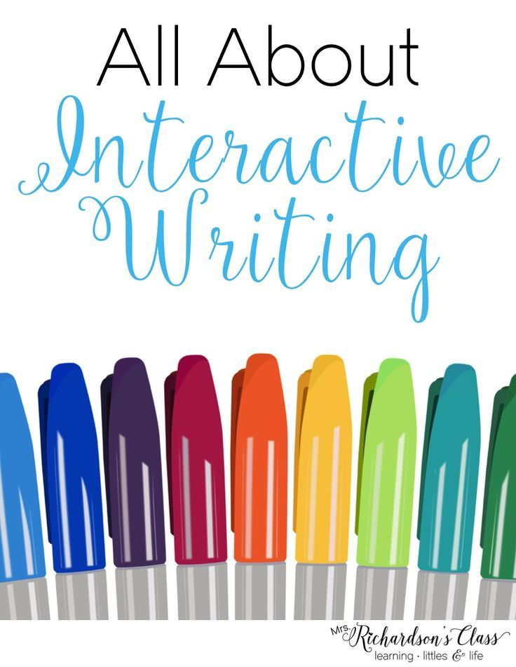 Interactive Writing How To for Kindergarten and First Grade--the visual descriptions are SO helpful!