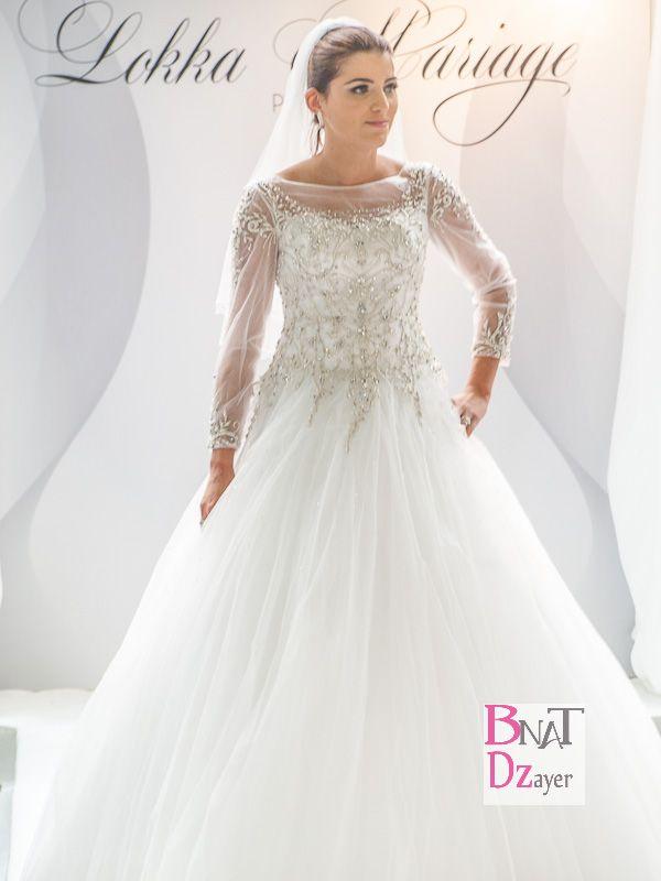 Robe blanche mariage algerien