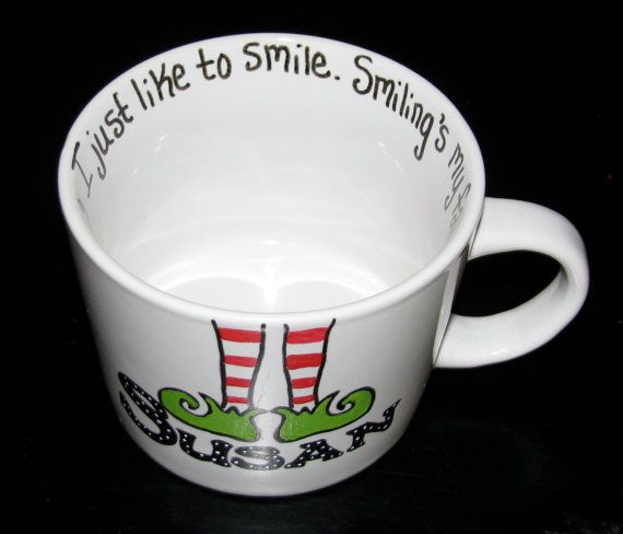 Personalized Hand Painted Christmas Mug on Etsy, $23.00 ...