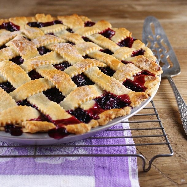 berry cherry pie for the 4th of july @Patty Price / Patty's FoodFood Desserts, Markison Price, Lattice Crusts, July Patti, Patti Markison, Sweets, Berries Cherries, 4Th Of July, Cherries Pies