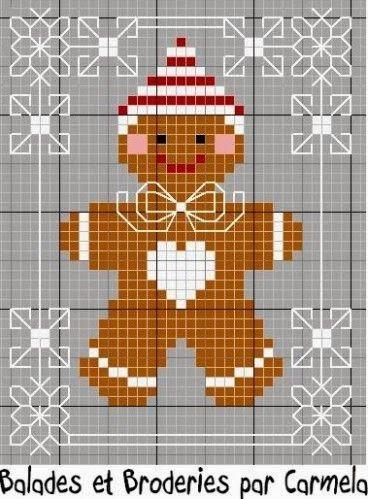Ricami e schemi a Punto Croce gratuiti: Piccoli quadretti a punto croce per Natale