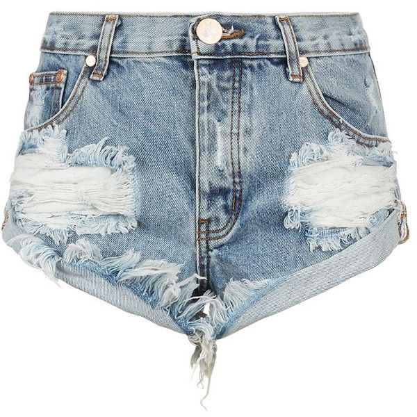 One Teaspoon Bandit Distressed Denim Shorts | Harrods (385 BRL) ❤ liked on Polyvore featuring shorts, bottoms, шорты, one teaspoon, distressed denim shorts and one teaspoon shorts