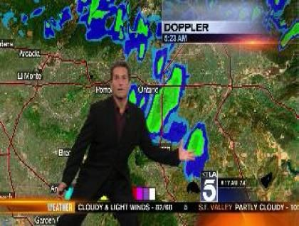 "you should watch this - Made me think of your ""news"" but this was really on TV... - - - Techno Weather: ""Serious"" Alert with Henry DiCarlo 