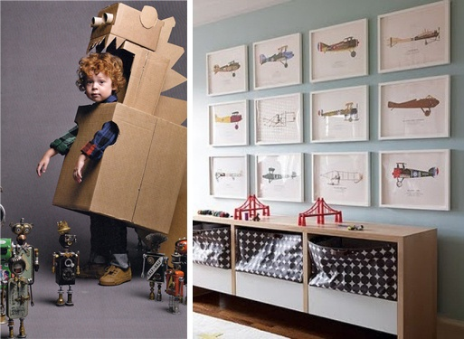 """KIDS - """"tough to walk down a runway, but OH so much fun"""" & """"boys rooms - vintage airplane prints"""""""