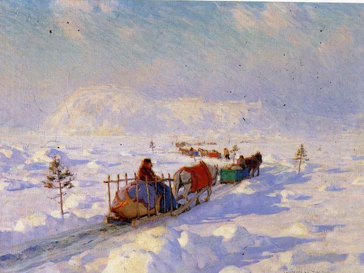 """""""Le Pont de glace a Quebec"""" 1921."""
