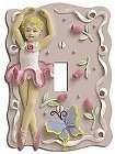 Ballerina themed decor!!These one-of-a-kind designs, painted to perfection, come to life with depth and character. Personalize your home with our hand-painted wallplates and transform your ordinary light switches and outlets into colorful focal points of your decor! . With such unique character, why not decorate your whole house! ballerina theme bedroom decorating ideas  http://girlsthemebedrooms.com/ballerina/Ballerina-Bedroom-decorating-ideas....