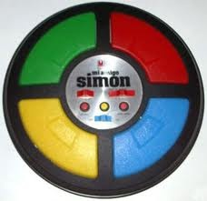 "Slogan:  ""Simon's a computer, Simon has a brain, you either do what Simon says or else go down the drain.""  -1978"