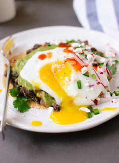 Huevos rancheros with avocado salsa verde recipe - cookieandkate.com