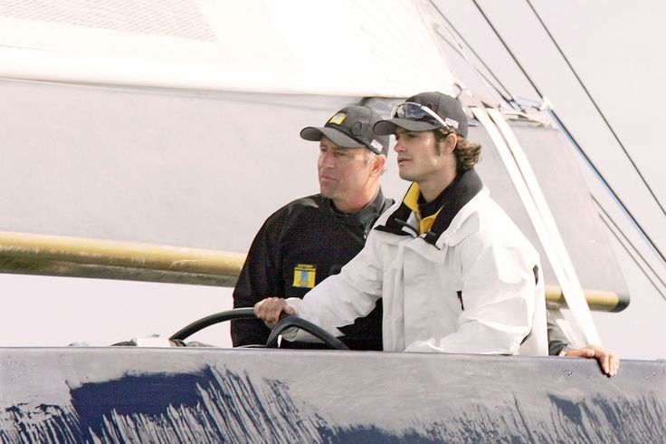 Le prince Carl Philip de Suède à l'America's Cup, en août 2005