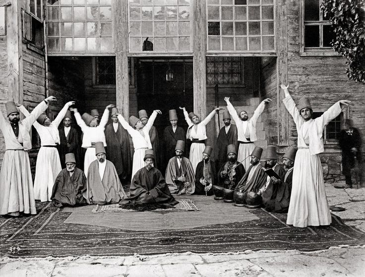 #OldPhoto of #Whirling #dervishes in #Galata #Mevlavi House, 1870  #Islam #Sufism #Ottoman