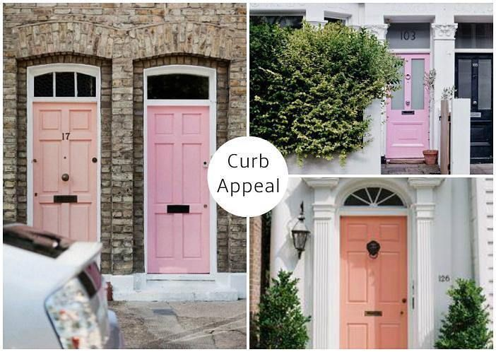 #colors like teal, red and yellow are not uncommon on front #doors these days, but we rarely see a gorgeous coat of #pink like this. But clearly, this #bold move can pay off! 🚪 #sampleboardinspo @sampleboard.inspo