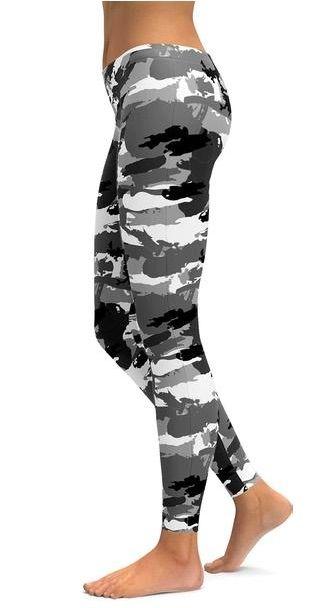 df0fb45680e49e Black & White Camo Leggings from GearBunch in 2019   Fitness ...