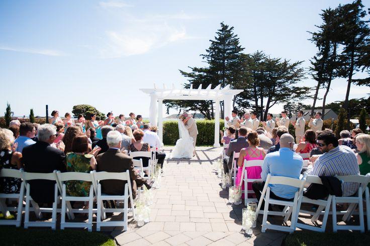Outdoor Wedding Ceremony at the Oceano Hotel & Spa, Half Moon Bay Weddings.  Maryrose Serac Photography