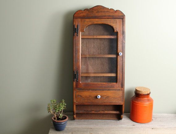 Vintage Kitchen Cupboard Wall Mounted Wooden by TheHomeMarket