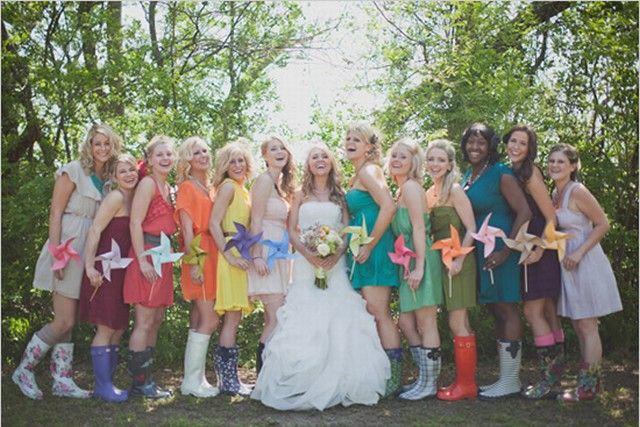 { Thème Arc – en – ciel } mariage tout en couleur