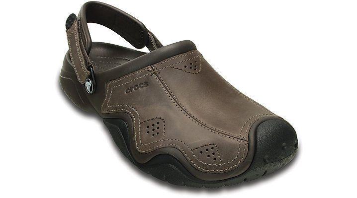 04e86c35de1 Crocs Swiftwater Mens Leather Clog