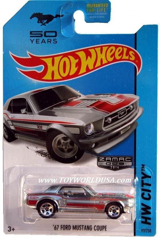 2014 Hot Wheels 93 Hw City Mustang 50th 67 Ford Mustang