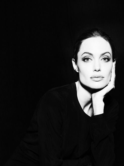 doesn`t this photo of angelina jolie make you think of breakfast at tiffany`s