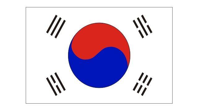 Bandeira da Coreia do Sul vetorizada em CDR | Vetores Brasil