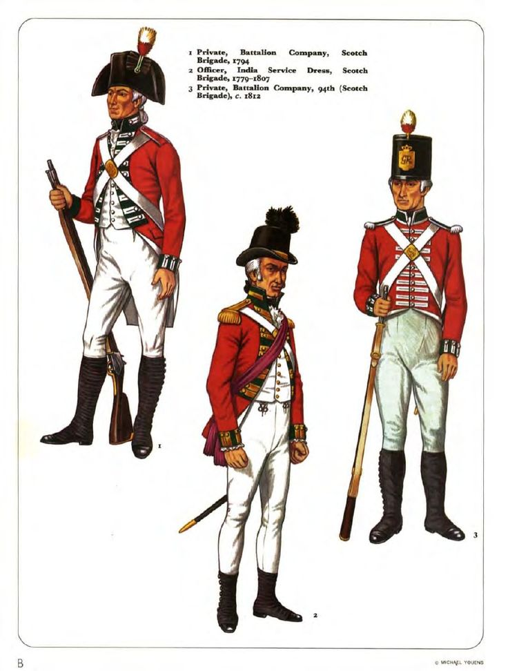 British; The Scotch Brigade, which became 94th Regiment of Foot in 1802(latr 2nd Battalion Connaught Rangers).