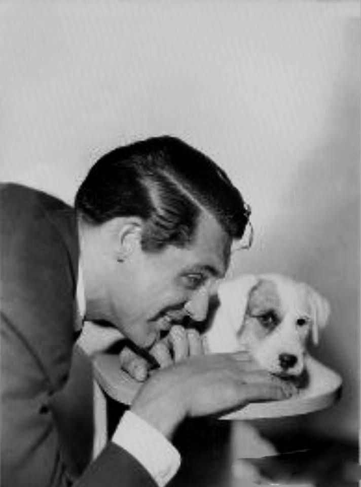 Cary Grant and his dog