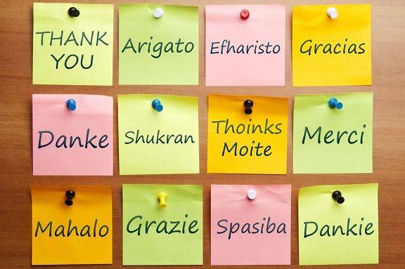 Thank You, Arigato, Efharisto, Gracias, Danke, Shukran, Thoinks Moite, Merci, Mahalo, Grazie, Spasiba, Dankie, And Thanks Again!