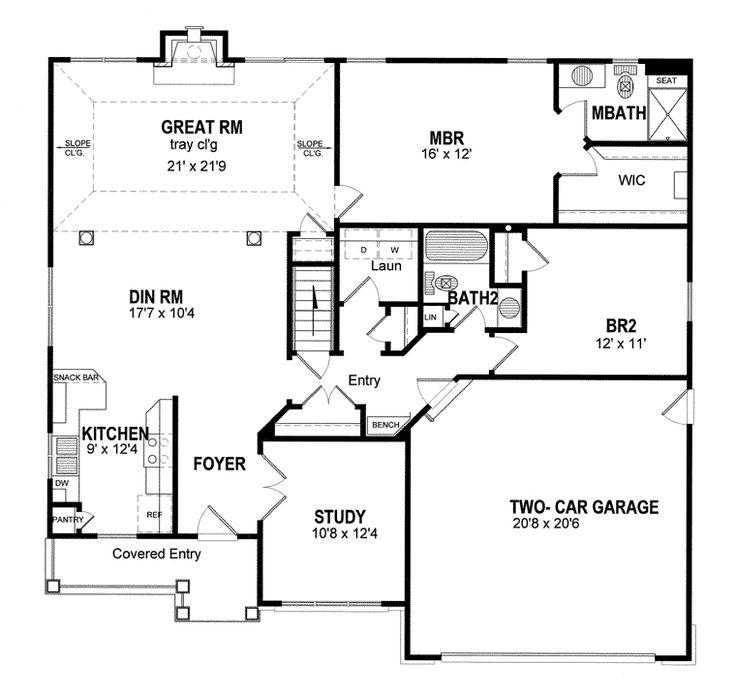 29 best house plans images on pinterest ranch home plans for Coastal ranch house plans