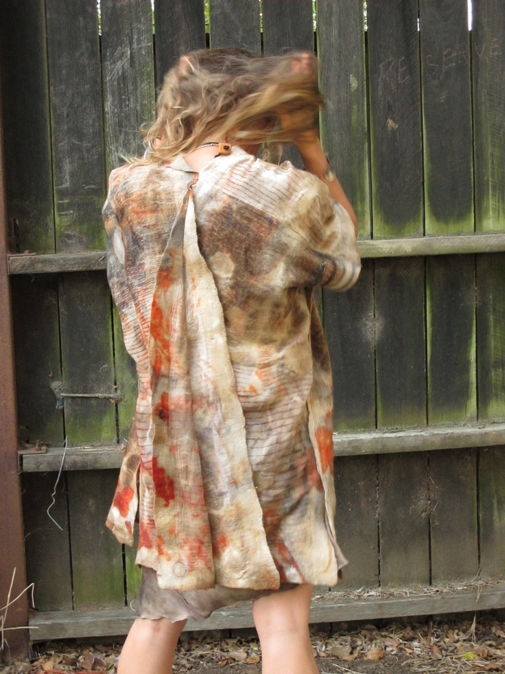 Felt jacket back. Created by Susan Fell Mclean Gondwana Textiles Australia