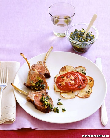Rack Of Lamb Spring Dinner Party Menu
