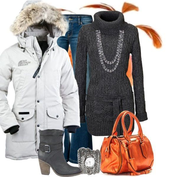 The North Face Women's Winter Coat + Outfit + Accessories